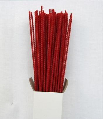 Chenille Sticks 3mm; Red