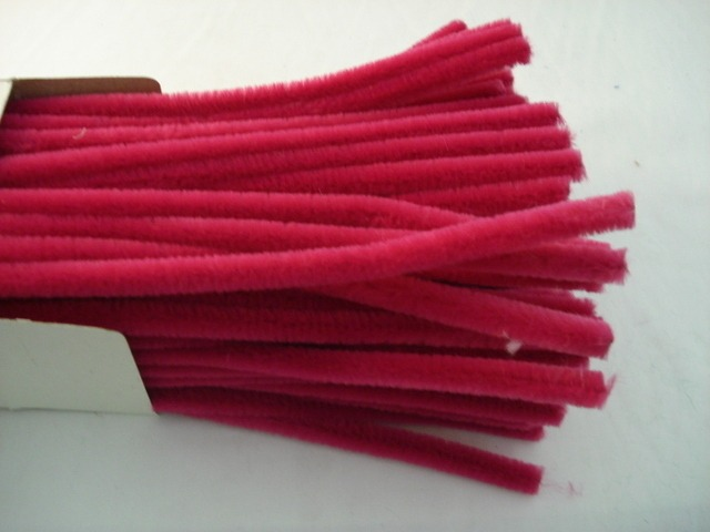 Chenille Sticks 12mm; Fuchsia