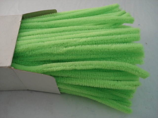 Chenille Sticks 12mm; Neon Green