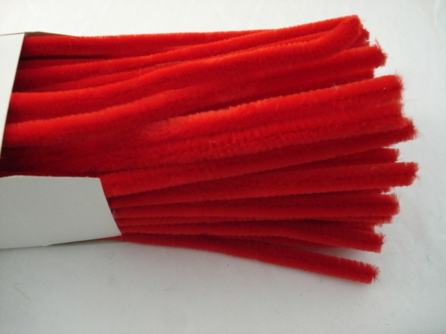 Chenille Sticks 12mm; Red