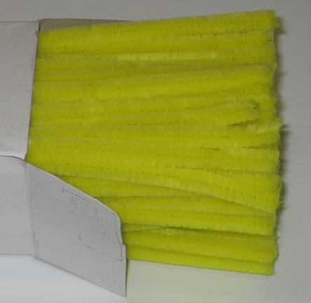 Chenille Sticks 12mm; Yellow