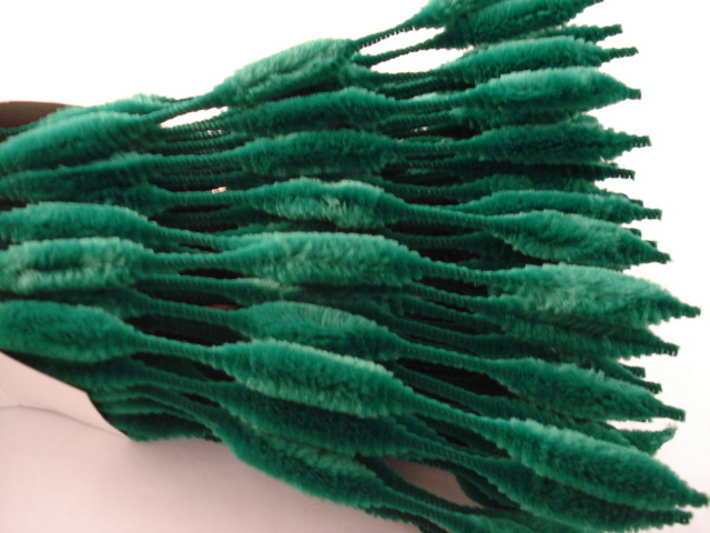 Chenille Bumps 15mm; Emerald