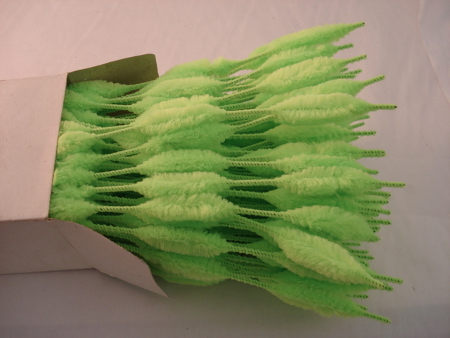 Chenille Bumps 15mm; Neon Green