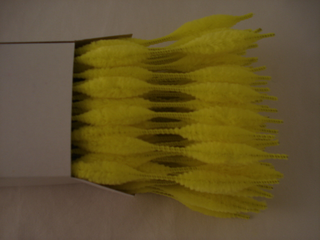 Chenille Bumps 15mm; Yellow