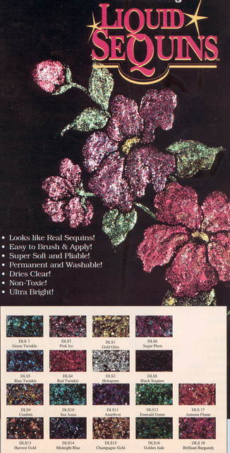 DecoArt Liquid Sequin Sample 12