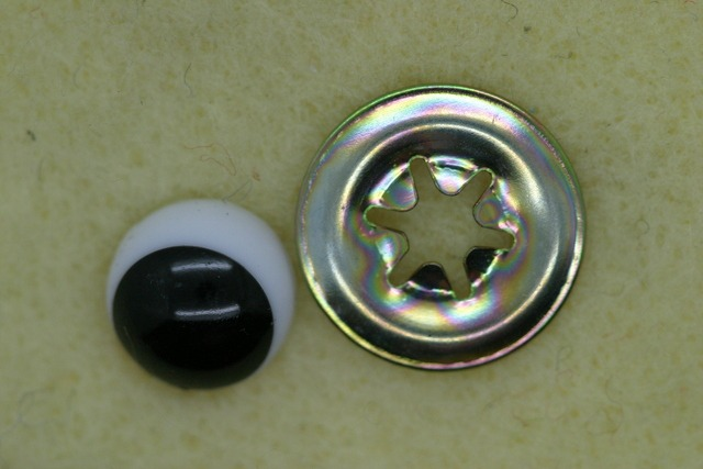 Eyes Small Comical, 10mm round 1 pair