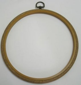 Flexi Hoop Round 8in; Wood Grain 1p