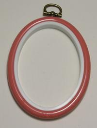 Flexi Hoop Oval 2x3in; Pink 1p