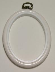 Flexi Hoop Oval 2x3in; White 1p