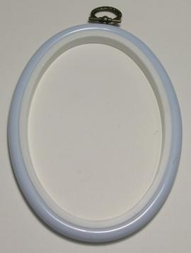 Flexi Hoop Oval 4x5.5in; L Blue 1p