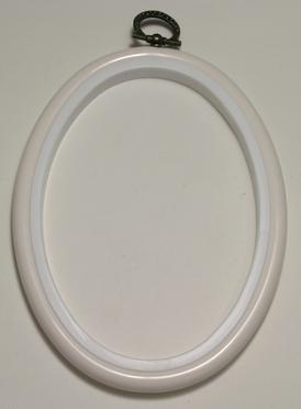 Flexi Hoop Oval 4x5.5in; White 1p