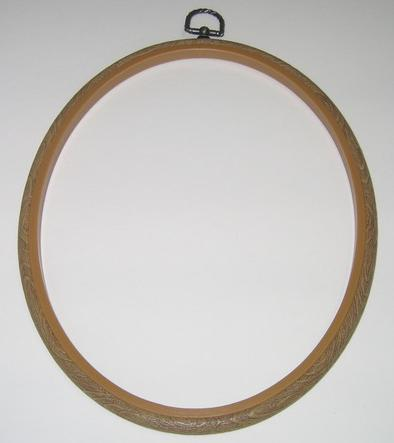 Flexi Hoop Oval 8x10in; Wood Grain 1p