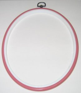 Flexi Hoop Oval 8x10in; Pink 1p