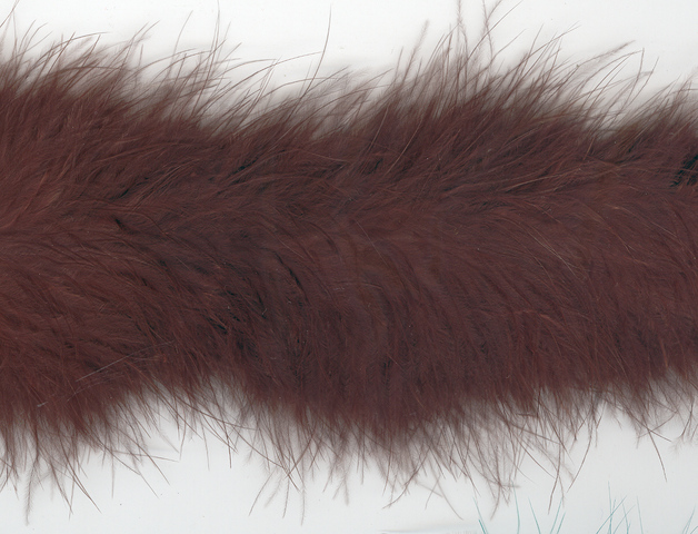 Marabou Trim, 2 yards, Dark Brown (1.82mtrs) piece.