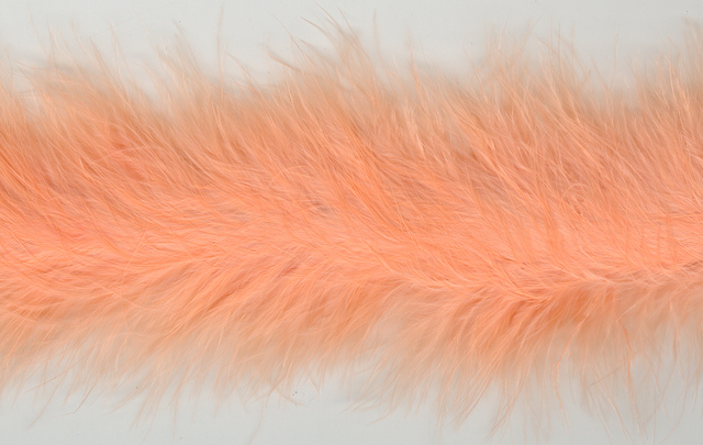 Marabou Trim, 2 yards, Shrimp (1.82mtrs) piece.