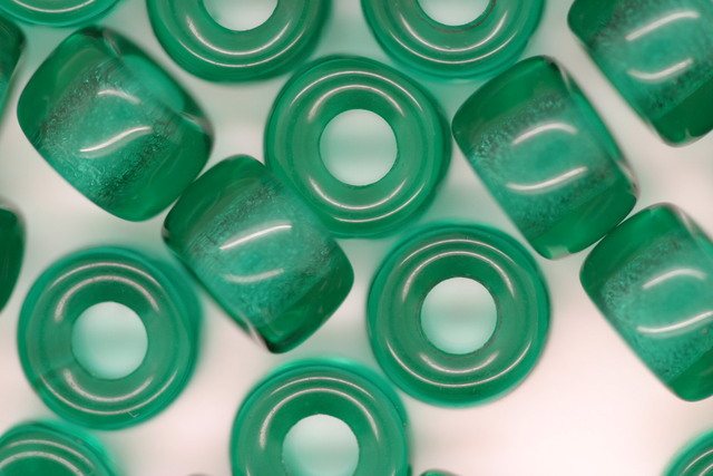 Glass Pony Bead Transparent Teal 100 grams