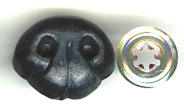 Bear Nose 40mm Black 10p