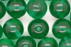 10mm Czech Round Bead; Transparent Green Bulk