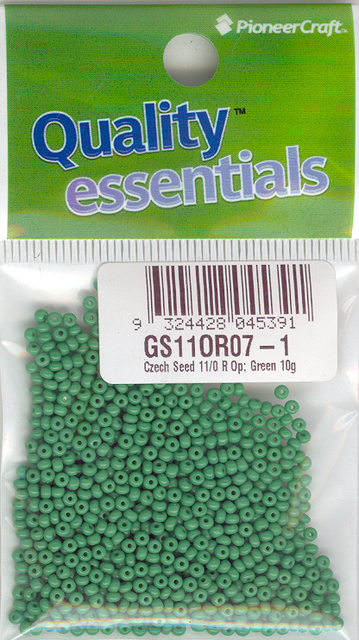 Czech Seed 11/0 R Opaque; Green 10g