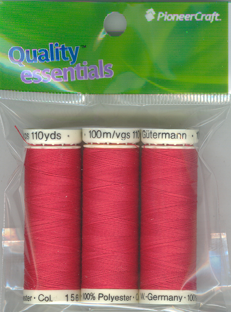 Gutermann 100m Red per each roll