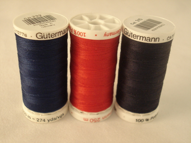 Gutermann 250m Red per each roll