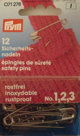 Safety Pins Steel Asst 12 Pk