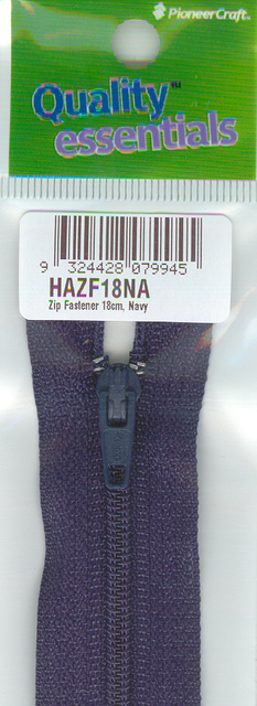 Zip Fastener 18cm, Navy No3 Closed End