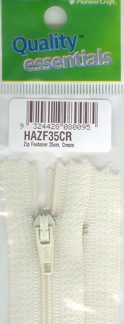Zip Fastener 35cm, Cream No3 Closed End