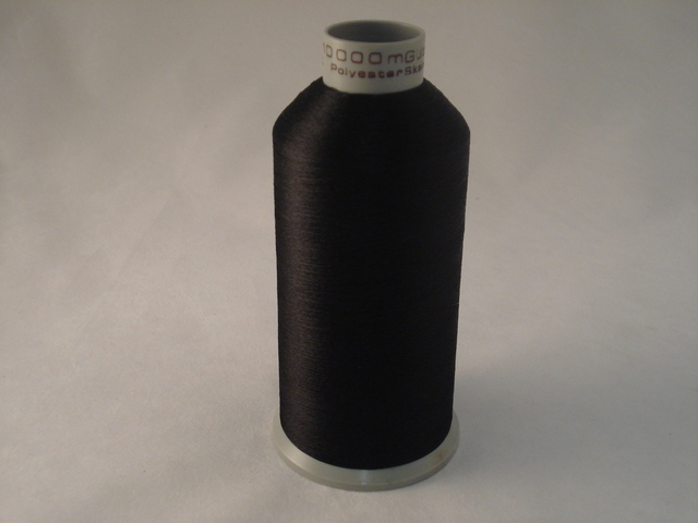 10000m Thread Over Locking 100% Polyester Black