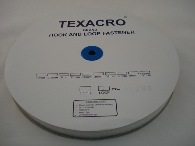 Two Part Tape (Velcro) 25mm Hook White