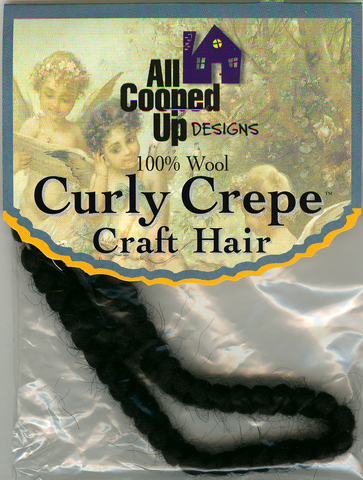 Curly Crepe Wool Hair; Black