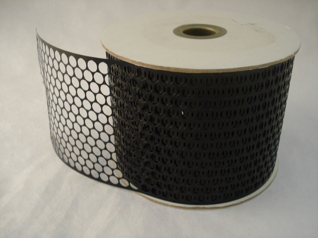 Honeycomb Sequin Ribbon 85mm wide, 45m roll; Black