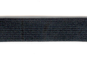 Knitted Elastic 19mm Black p/m