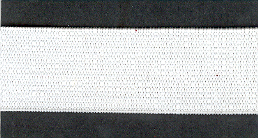 Knitted Elastic 25mm White p/m
