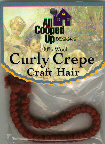 Curly Crepe Wool Hair; Fox Red