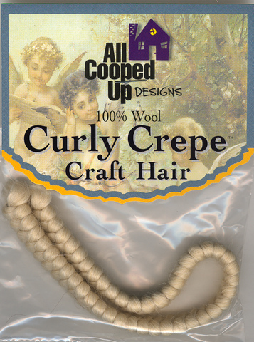 Curly Crepe Wool Hair; Natural
