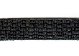 Non Roll Woven Elastic 19mm Black p/m