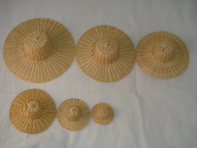 Cane Hat Set of 6, per set