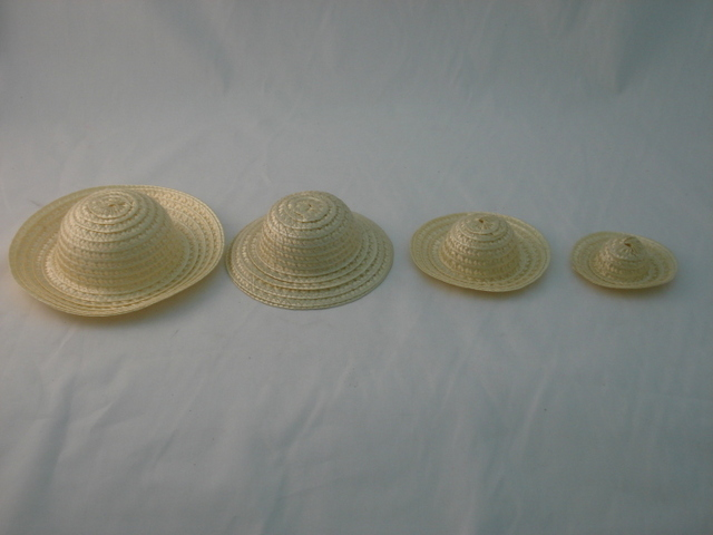 Straw Hat 6in, each