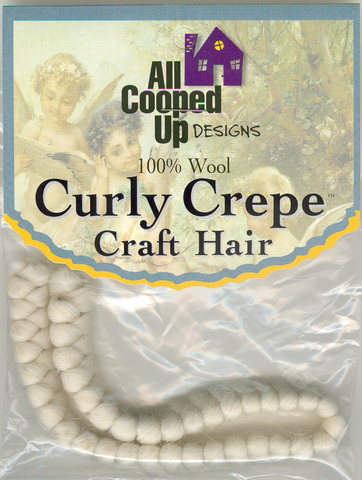 Curly Crepe Wool Hair; White