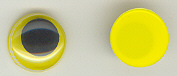 15mm Joggle Eye Stick On Yellow Pupil 100p
