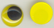 20mm Joggle Eye Stick On Yellow Pupil 100p