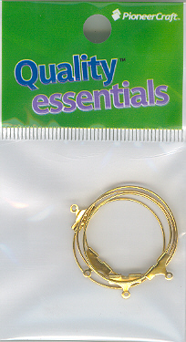 Ear Hoop 25mm Gold 4p (hang sell)