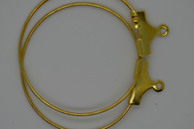 Ear Hoop 25mm Gold 100p