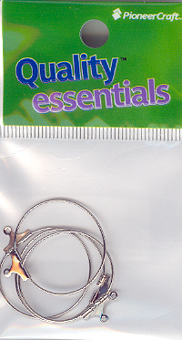 Ear Hoop 25mm Nickel 4p (hang sell)
