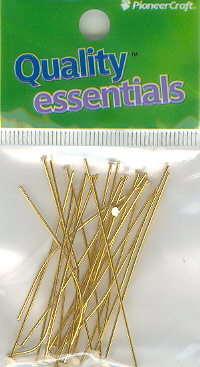 Head Pin 50mm Gold 5g (hang sell)
