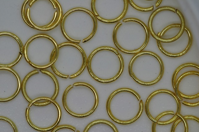 Jump Ring 7mm Gold 100p