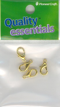 Lobster Clasp 15mm Gold 4p (hang sell)