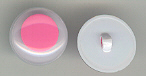 15mm Joggle Eye Sew On; Pink Pupil