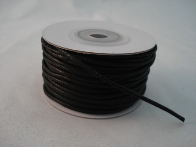 Leather Imitation Round 1.5mm Black 25yards 22.86 mts per roll